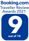 Booking.com Traveller Review Award 2021 9 out of 10