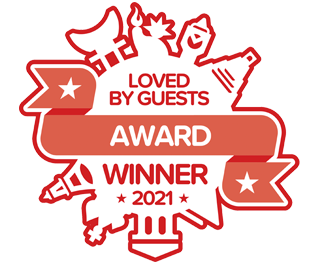 Hotels.com Loved by Guests 2021 Award 8.8/10